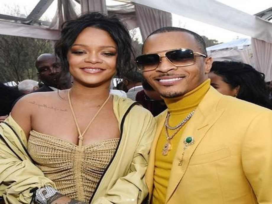 Rihanna awes everyone with glam dress and grand entry