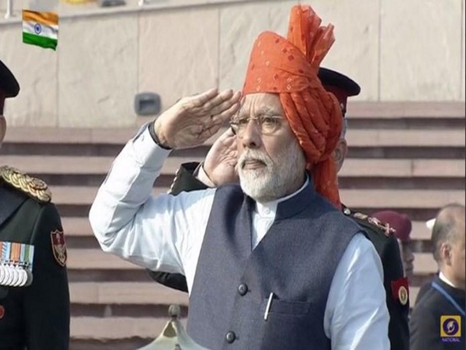 PM Modi opts for bright saffron turban for 71st Republic Day celebrations