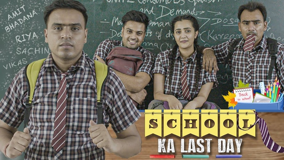 Amit Bhadana's Latest Video School Ka Last Day is Pure Delight for Fans