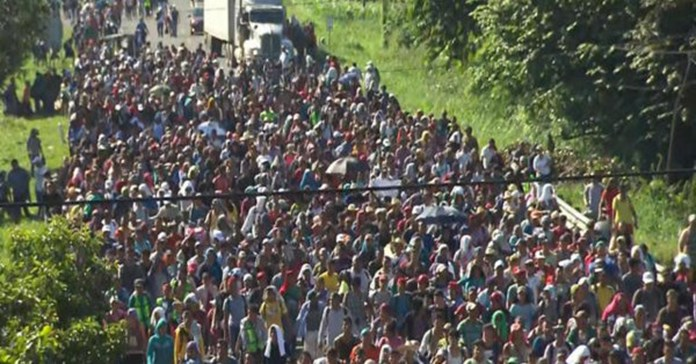 Migrants believe 'going together' will help them cross US border