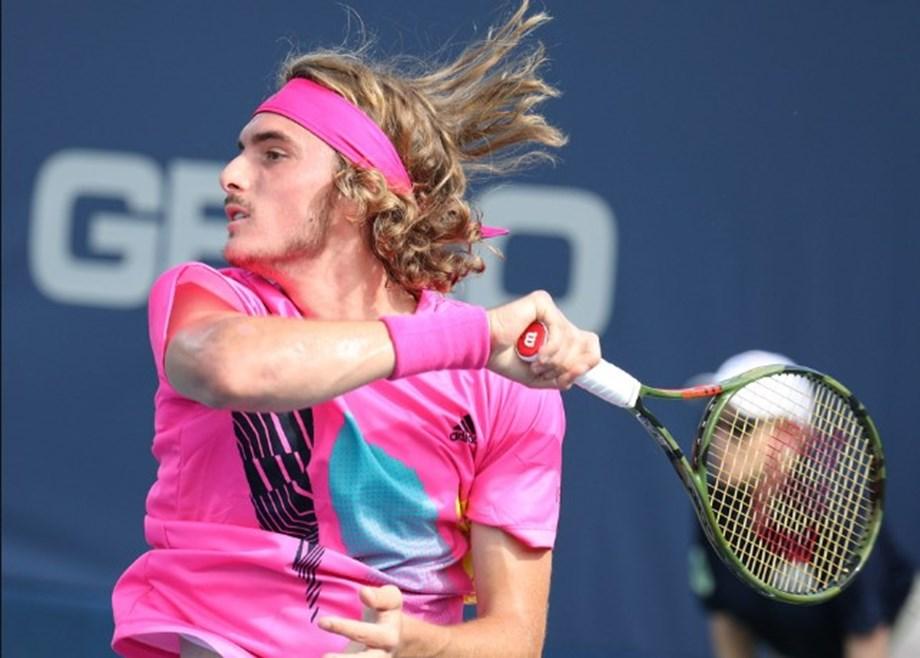 UPDATE 1-Tennis-Tsitsipas thrashes Zverev to reach ATP semis