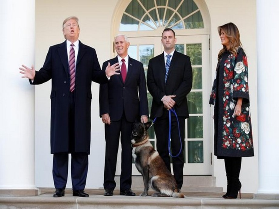 Conan is a tough cookie: Trump welcomes military dog, who helped kill al-Baghdadi, to White House