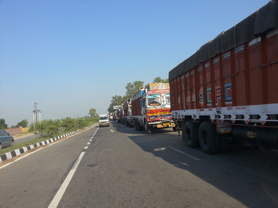 Two cops held for demanding extortion money from truck driver