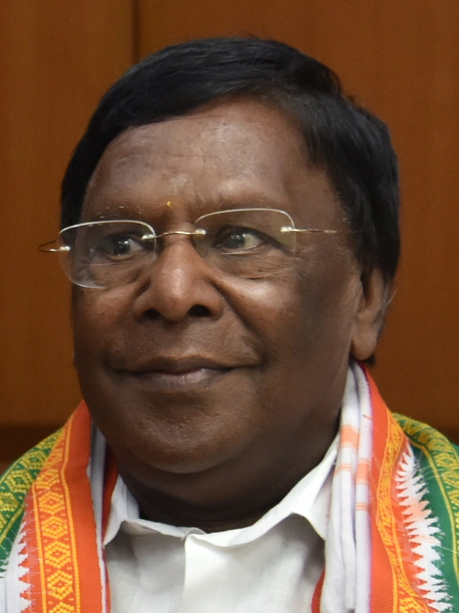 V Narayanasamy pitches for victory of Congress nominee V Vaithilingam