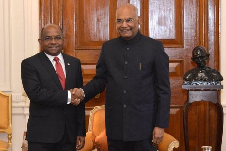 Maldives Foreign Minister calls on President Kovind at Rashtrapati Bhavan