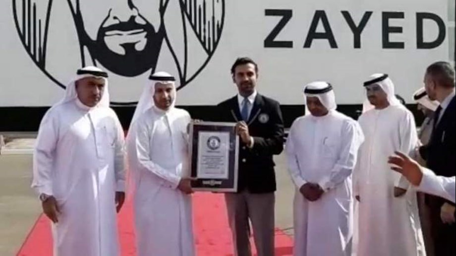 Dubai unveils world's largest wooden block mosaic