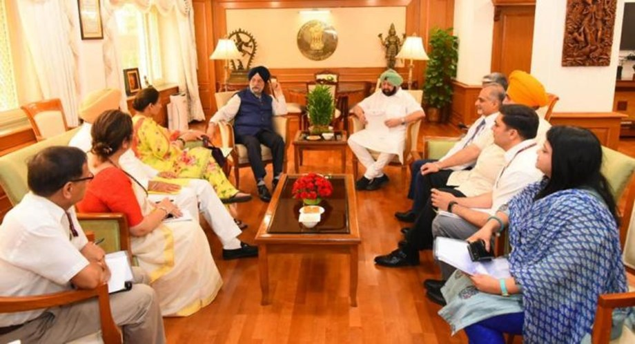 Hardeep Singh Puri assures Punjab CM of quick approval of Sultanpur Lodhi Infra development work