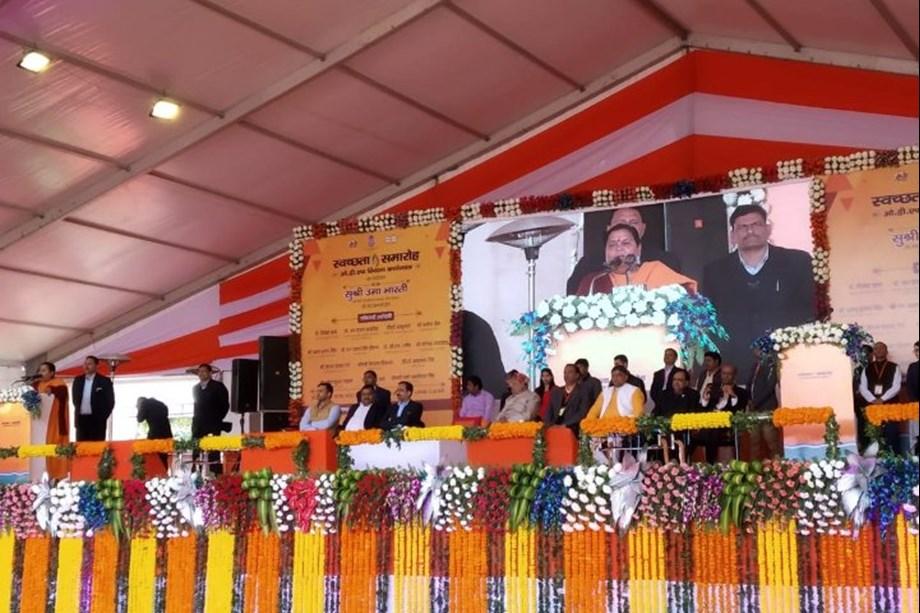 Uma Bharti addresses over 5000 key stakeholders in Swachhata Samaroh, Agra