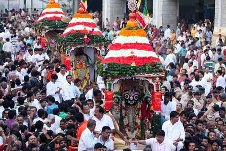Ahmedabad - Lord Jagannath rath yatra commences amid tight security