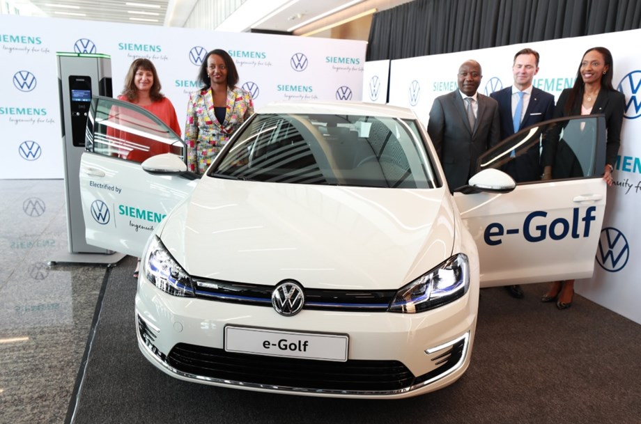 Volkswagen choses Rwanda for launching first electric car in Africa