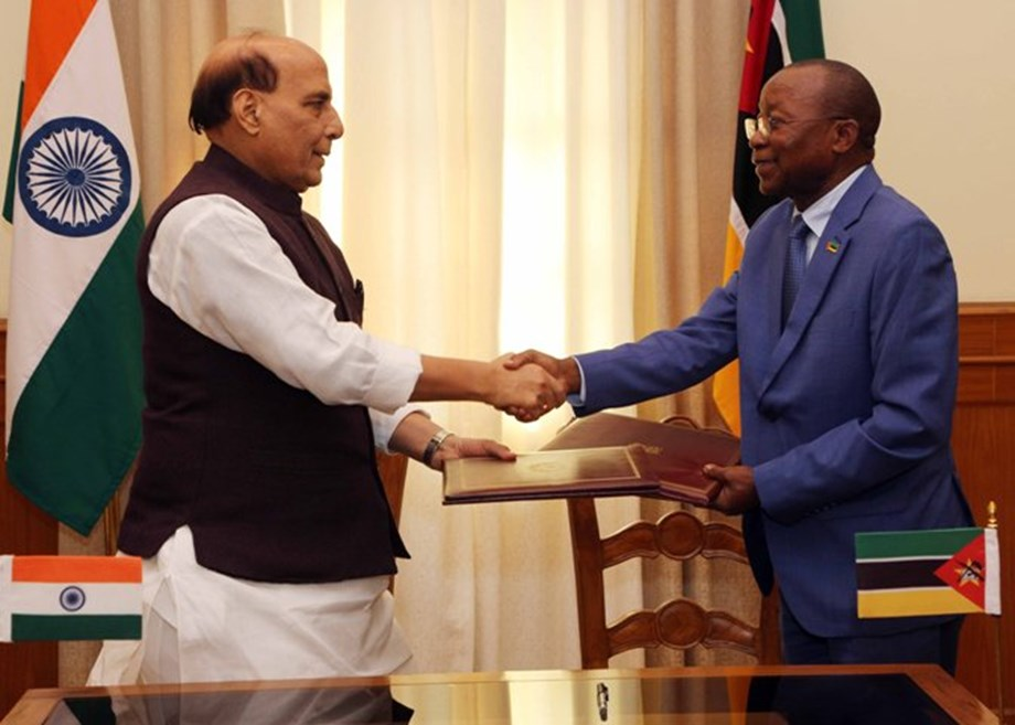 Mozambican Defence Minister meets with Rajnath Singh