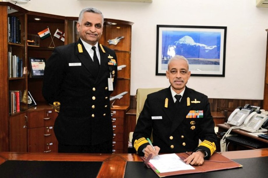 Vice Admiral MS Pawar debriefs officials for exercise Sea Vigil