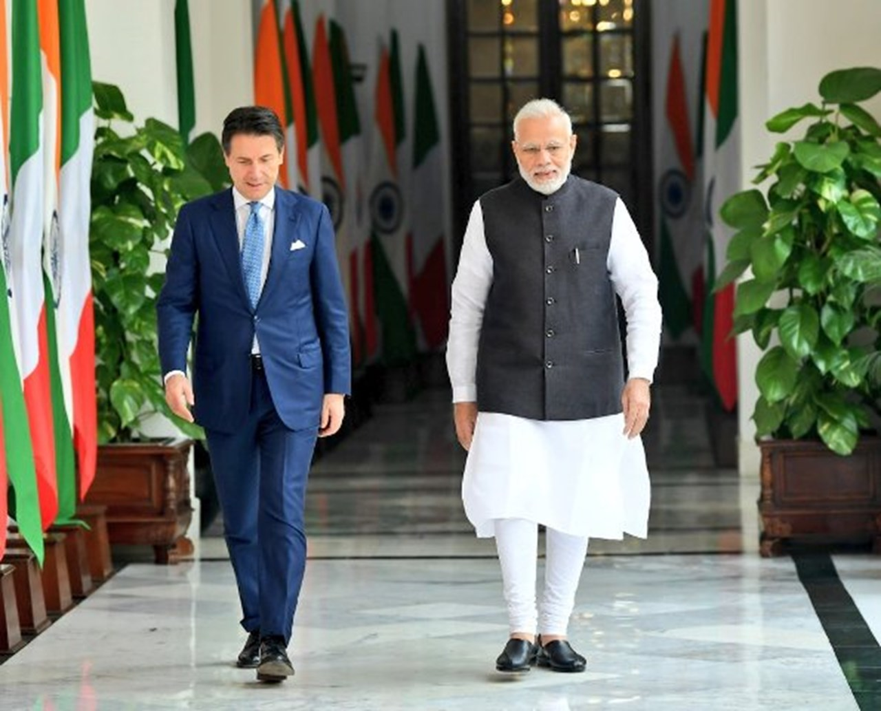 India and Italy plan to promote bilateral economic cooperation after Conte visit
