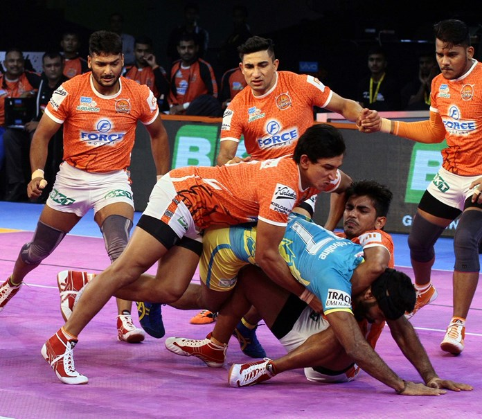 Kabaddi league: Gujarat Fortune Giants beat Puneri Paltan 37-27