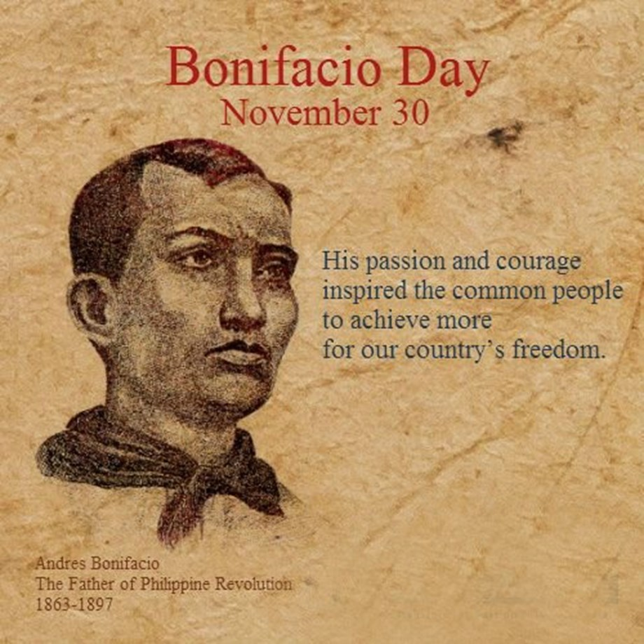 Supporters gather in Manila to mark birth anniversary of Andres Bonifacio