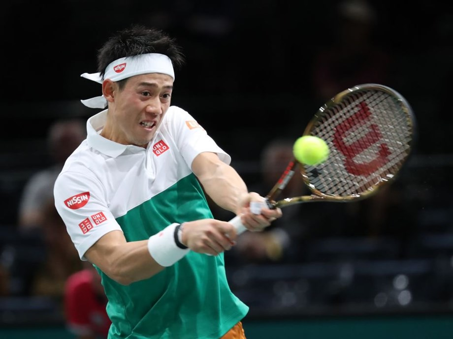 Tennis: Japan's Nishikori beats French Mannarino at 2nd round of Paris Masters