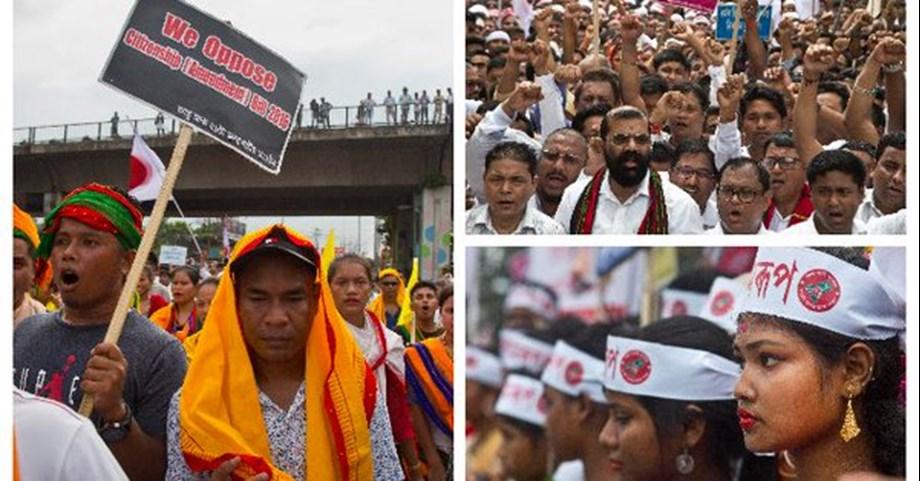 Groups hold massive protest against Citizenship Bill, burns Modi effigies