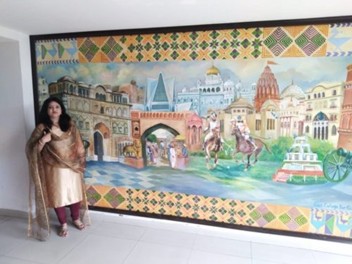 Punjab Bhawan in Delhi paints wall with state's history, art, culture