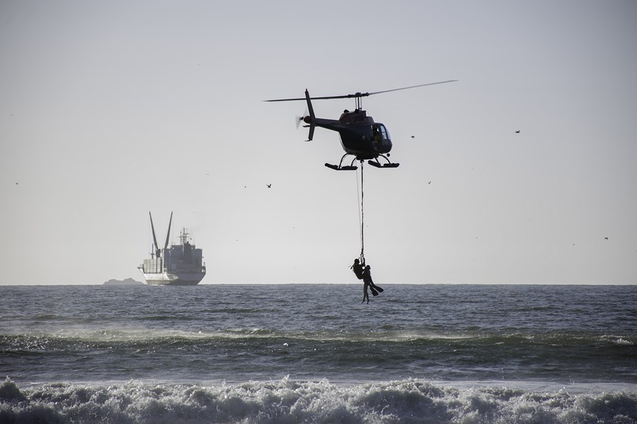 Coast Guard helicopter rescues armyman off Goa beach