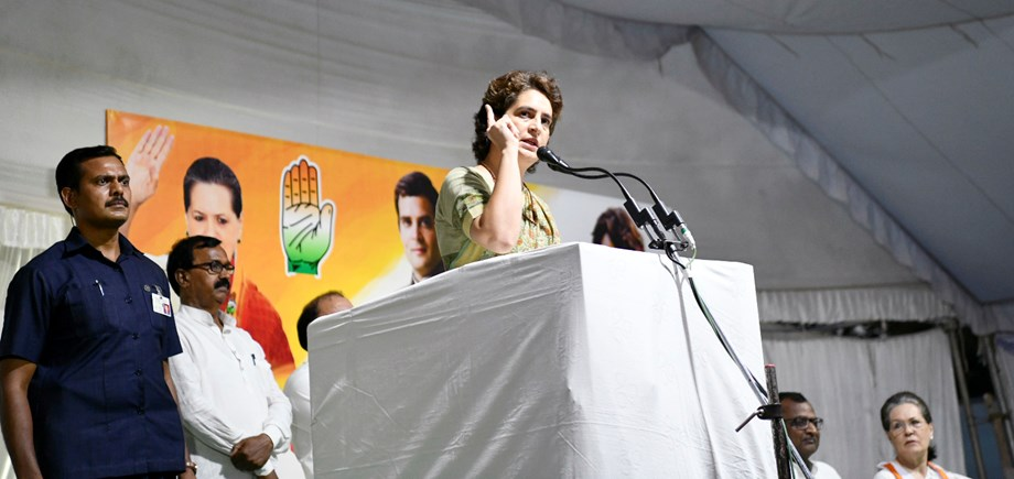 Priyanka talks tough with Cong workers; says they have let the party down