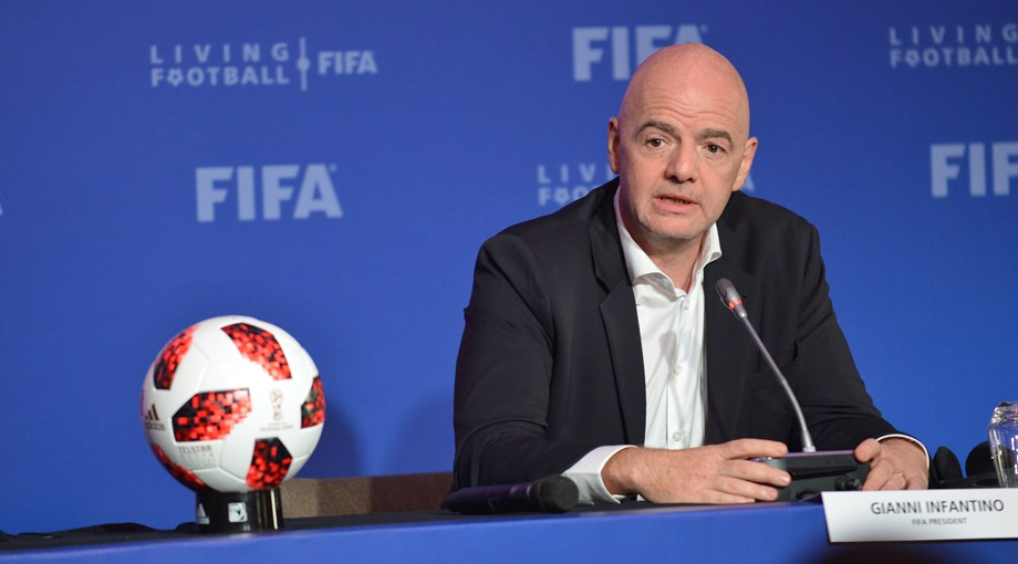 UPDATE 1-Soccer-Infantino re-elected FIFA president unopposed at Paris congress