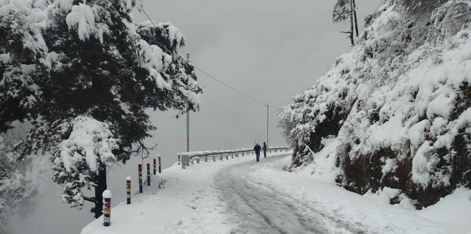 Fresh snowfall in Shimla and its nearby areas, visitors flock to enjoy