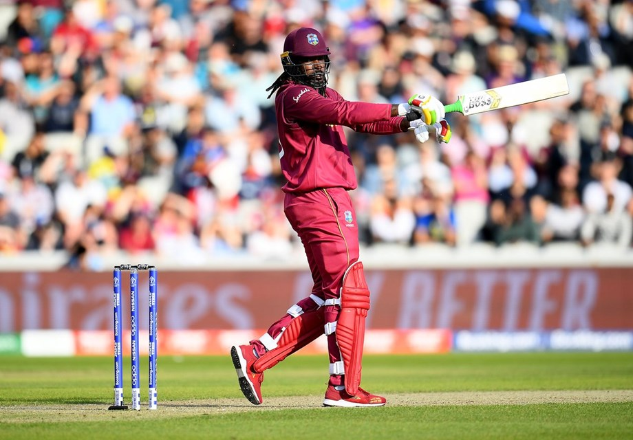 Gayle's fireworks take Windies to 158 for 2 before rain stopped play  in 3rd ODI
