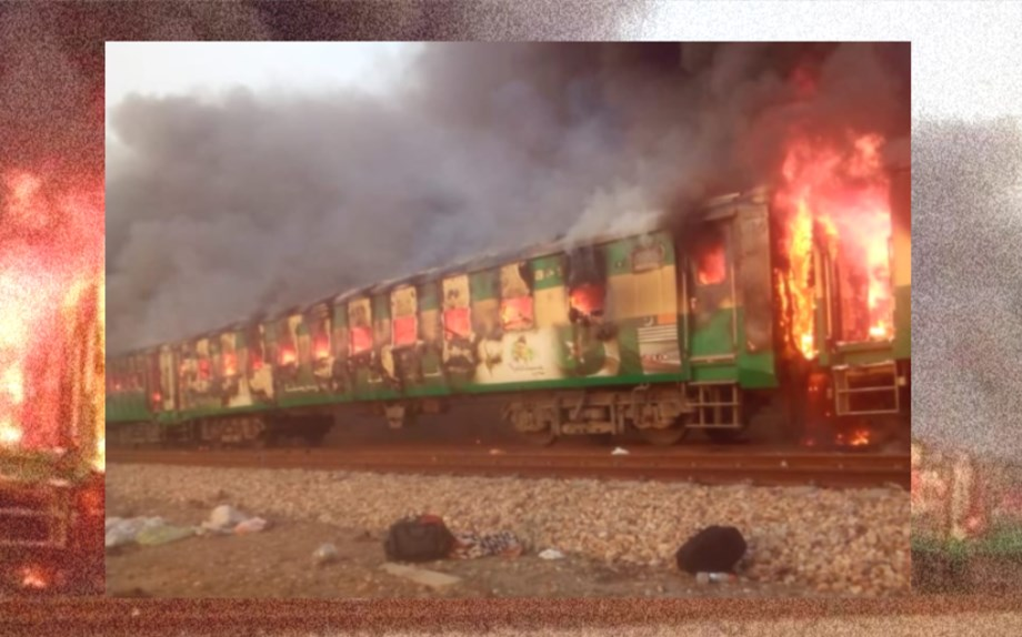 74 passengers killed in Pakistan train inferno